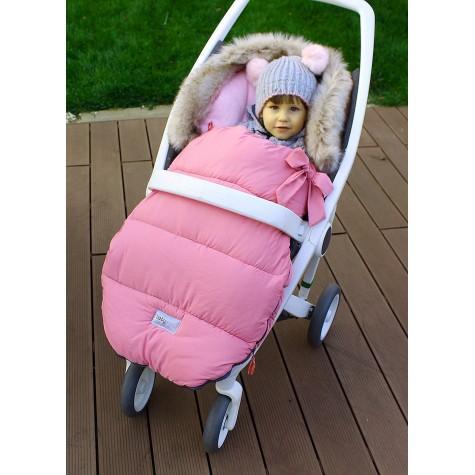 Śpiworek zimowy do wózka różowy