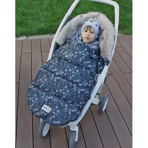 Śpiworek zimowy do wózka gwiazdki