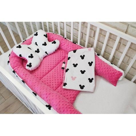 Gniazdko kokon niemowlęcy MIKI / róż