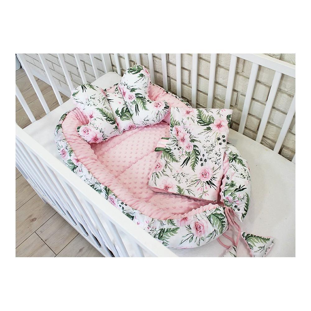 Gniazdko kokon niemowlęcy kwiaty
