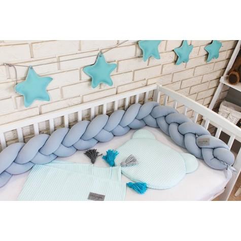 Ochraniacz Warkocz do łóżeczka